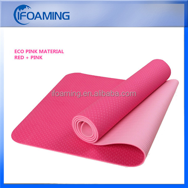 100% Anti-slip Dual Layers TPE Yogamat Wholesale