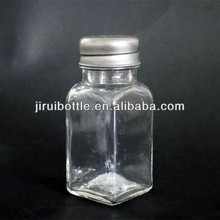 glass salt and pepper shakers spice bottle
