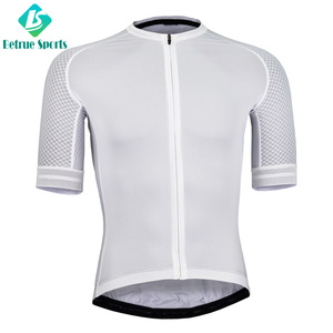 Chinese Manufacturer Custom White Plain Cycling Jersey