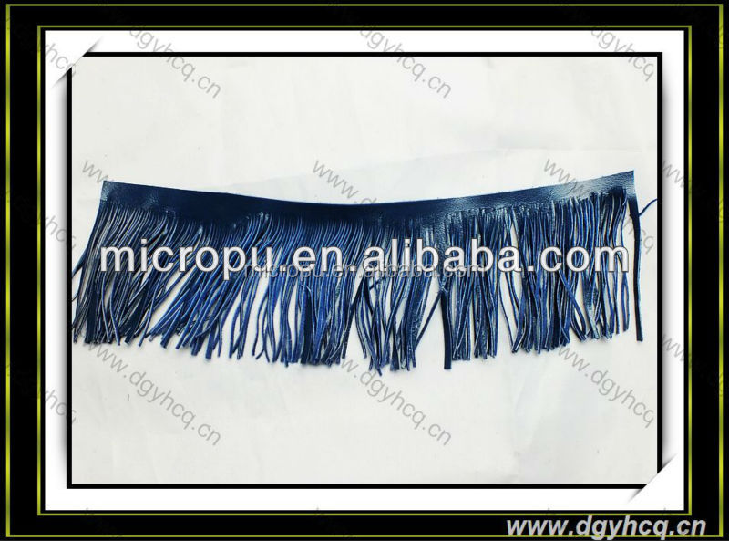 Microfiber pu leather synthetic faux leather artificial leather for fringe tassel strip upper