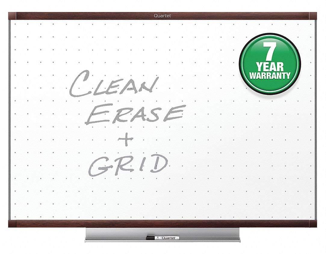 "Quartet Gloss-Finish Melamine Dry Erase Board, Wall Mounted, 48""H x 72""W, White"