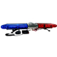 police car led warning light bar, 100 watt speaker, red blue led warning lightbar