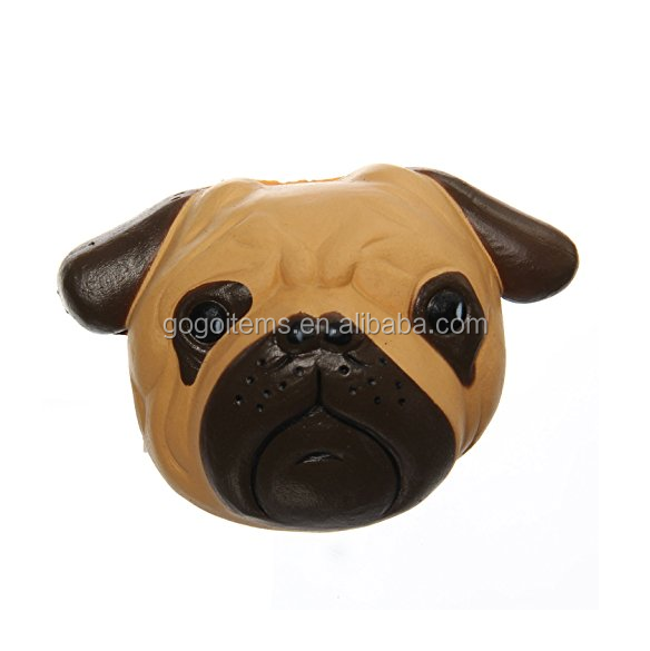 Funny dog head soft slow rising squishy for kids gifts and time killing