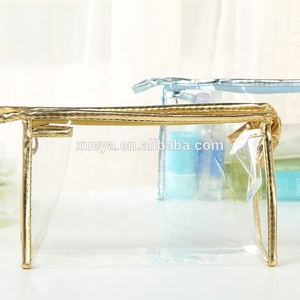 Wholesale high quality PVC clear custom cosmetic bag