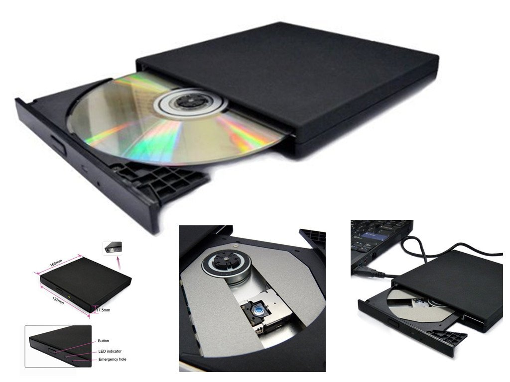 USB 2.0 External Slim CD-ROM Drive for Acer Aspire