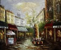 new handmade Paris street oil painting on canvas