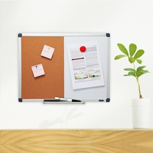 Modern Combination Cork Board and white board with Aluminum Frame combo Board