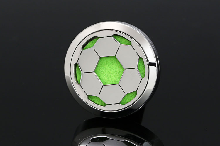 Fashion Round Ball Pattern Perfume Locket Vent Air Freshener Essential Oil Diffuser For Car