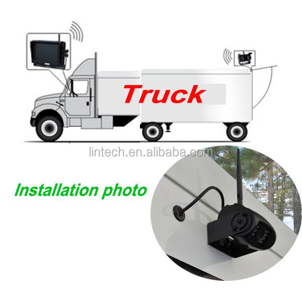 7 polegada cam ra de recul sans fil pour camion bus remorque rv chariot l vateur. Black Bedroom Furniture Sets. Home Design Ideas