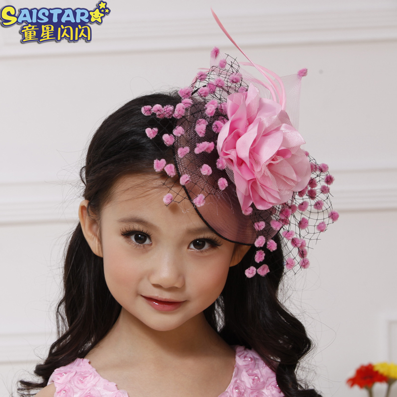 Childrens Wedding Hair Accessories Promotion Free Shipping Child Accessory Exquisite Fishing Net Flower Y25