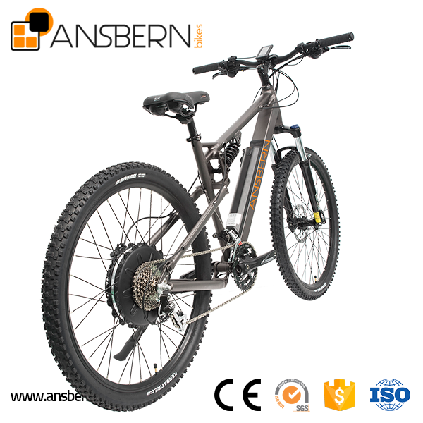 27.5 Inch 500W 48V 10.4AH Rear Motor Full Suspension 10.4AH Electric Mountain Bike(ASB-EB-13)