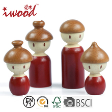 Handmade family wooden peg doll