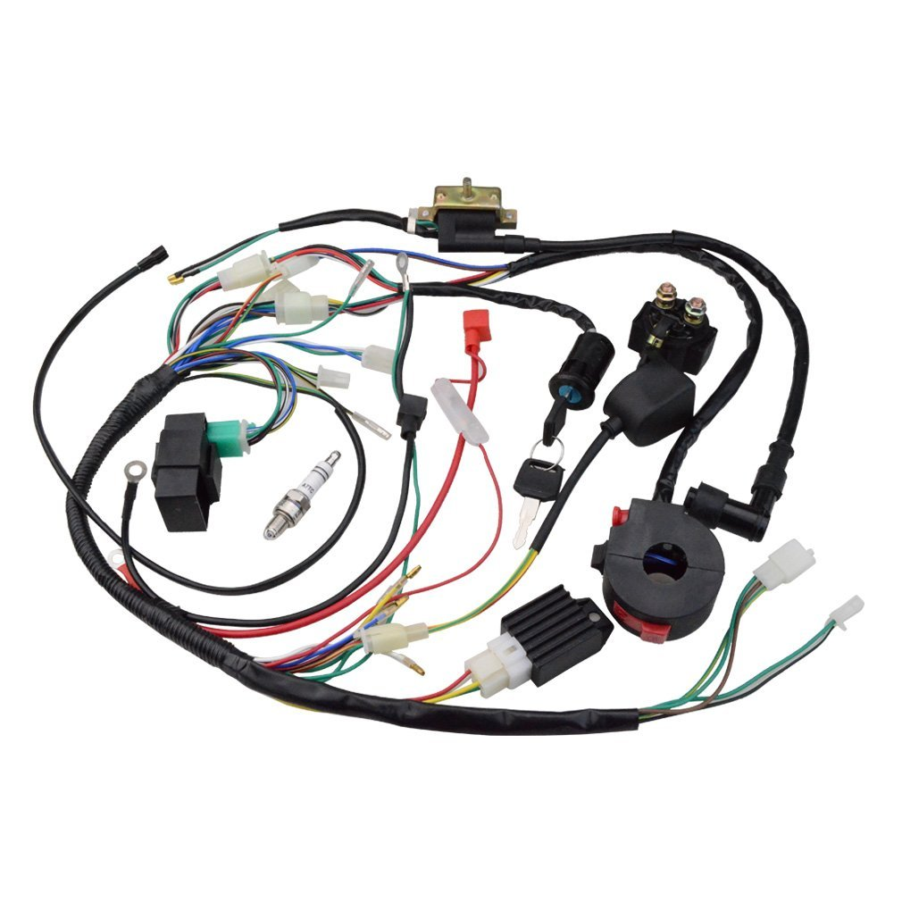 GOOFIT Ignition Rebuild Kit Wiring Harness for 50cc 90cc 110cc 125cc Chinese  ATV Quad Bike Go