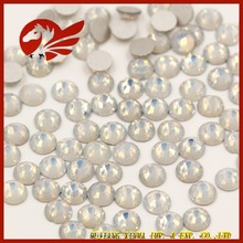 Wholesale TOP quality low price Non Hot Fix Rhinestone White Opal Crystal