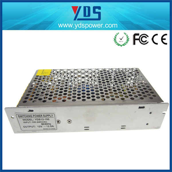china YDS power supply with12v 12.5a, cctv ups power supply for LED /CCTV