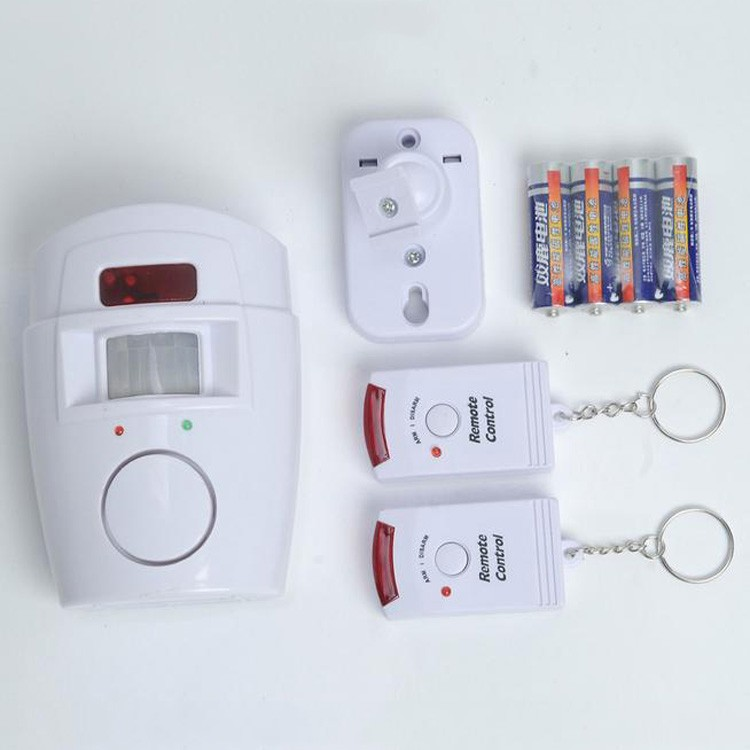 New Motion Sensor Wireless Home Alarm with 2 Remote Controls