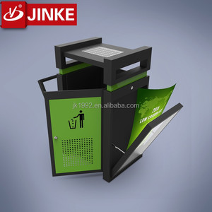 China factory free standing cheap metal cigarette butt bins