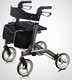 Hot sale Aluminium lightweight stable fashion foldable rollator walker with seat and with bag for eldly HCT-9137A