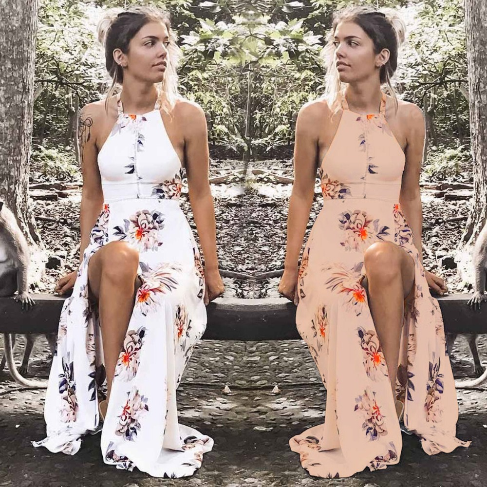 2018 Wholesale women indian style maxi fashion floral colors one piece party evening summer dresses