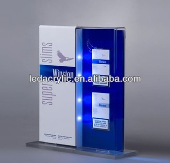 Led Lighted Acrylic Cigarette Display Holder