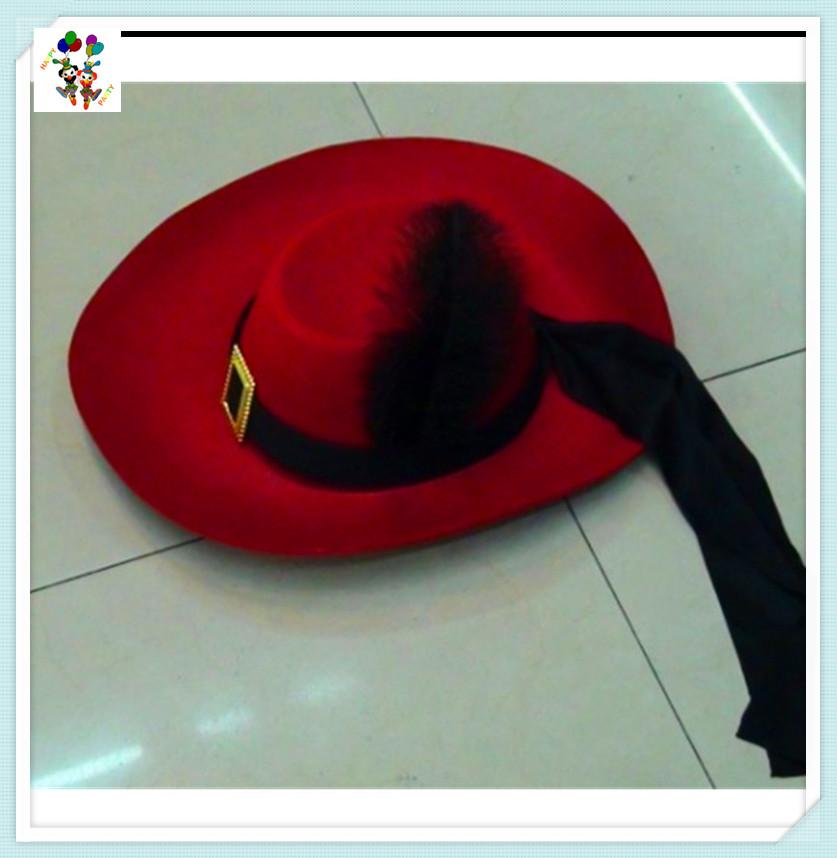 Adult Gaucho Mexican Zorro Red Band Ball Spanish Black Felt Hats HPC-0261 532ba755fd52