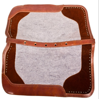 WOOL GRAY FELT WESTERN RANCH SADDLE THERAPEUTIC CONTOUR HORSE SHOCK PAD BLANKET