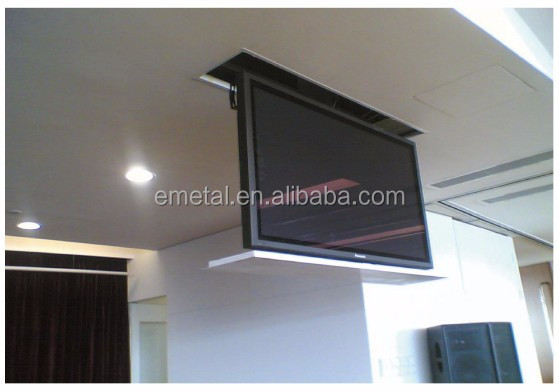 Distance motoris lectrique actionneur tv d roulant ascenseur pop plafond montage 28 32 37 - Support plafond tv motorise ...