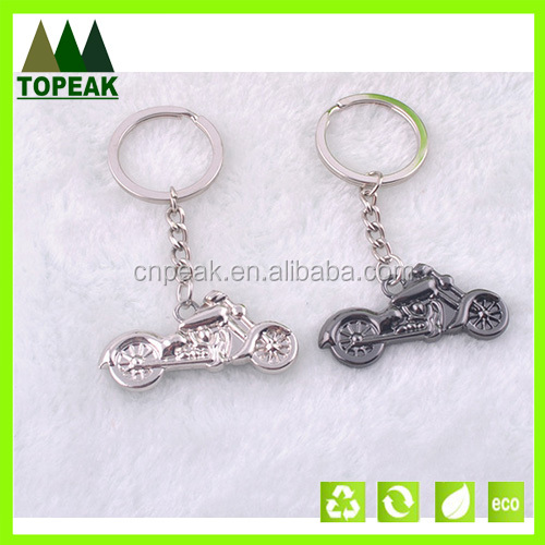 Personalized motorcycle moto design charms pendant metal keychain