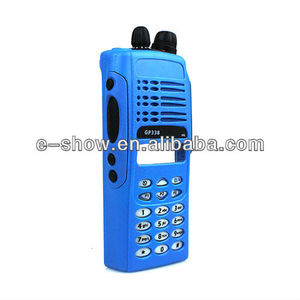 Complete Radio Service Parts Front Case Housing Cover Refurb Kit for Motorola GP338/GP380/PTX760 Radio Blue
