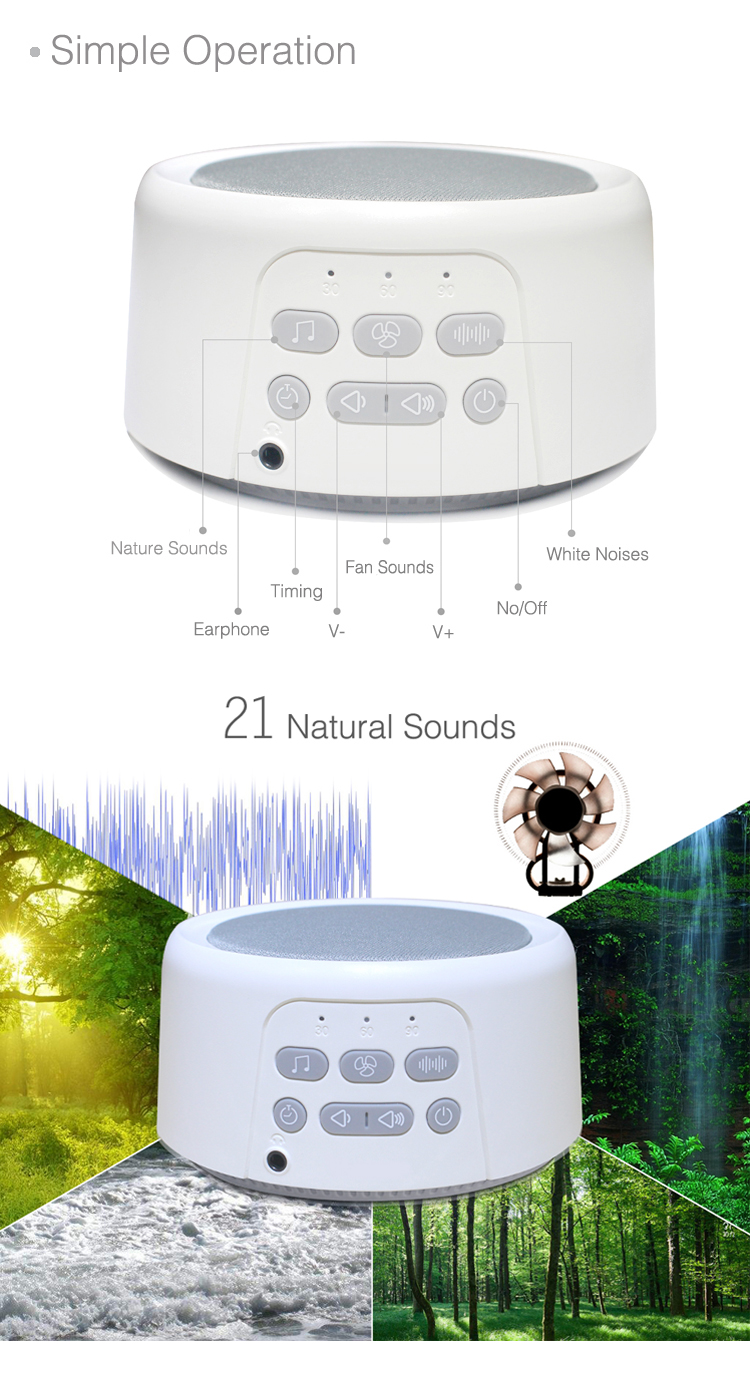 High standard in quality white noise sound machine sleep sound machine