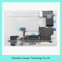 Original Black White Dock Connector Charger Flex Cable Headphone Audio Jack Ribbon Black Charging Port For IPhone 5S