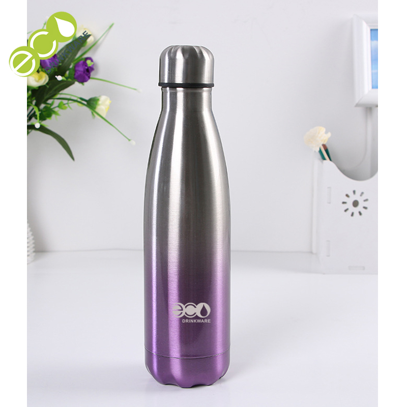 Stocked no minimum Supplier Unique Eco-Friendly Feature Custom-Made Durable Discount Double Wall Vacuum Thermal Cola Bottle