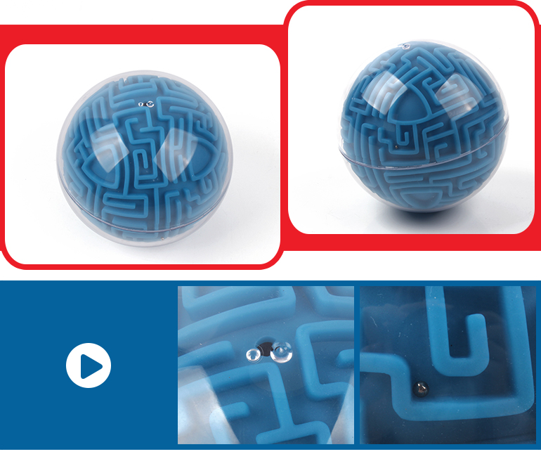 Educational toy kids favorite labyrinth game intelligence 3d maze ball with difficulty level