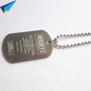 roll edge metal custom dog tags military engraved with ball chain