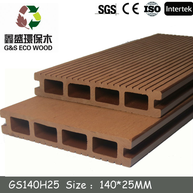 Wpc Composite Flooring China Supplier(140x25mm) Hollow Wpc ...