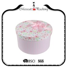 Round cardboard boxes decorated gift luxury round hat box for flowers