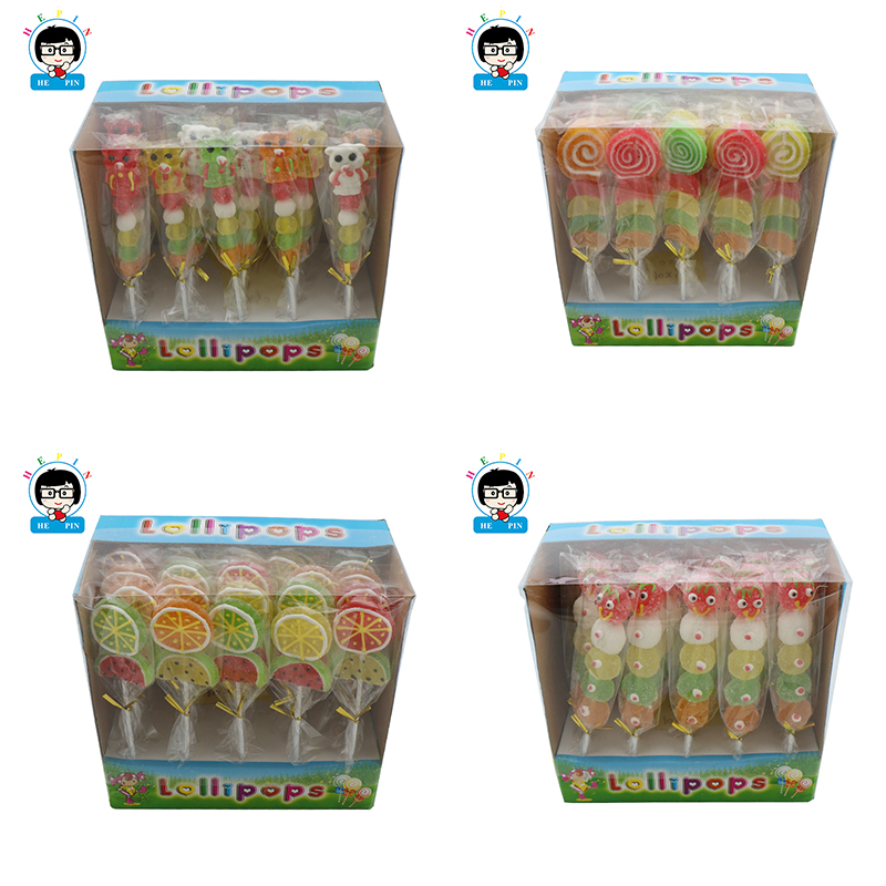 Fruity Flavor Sugar Coated Soft Candy Gummy Candies Jelly Candy Orange Lollipop Flavor Sweet and Sour Chewy Candy