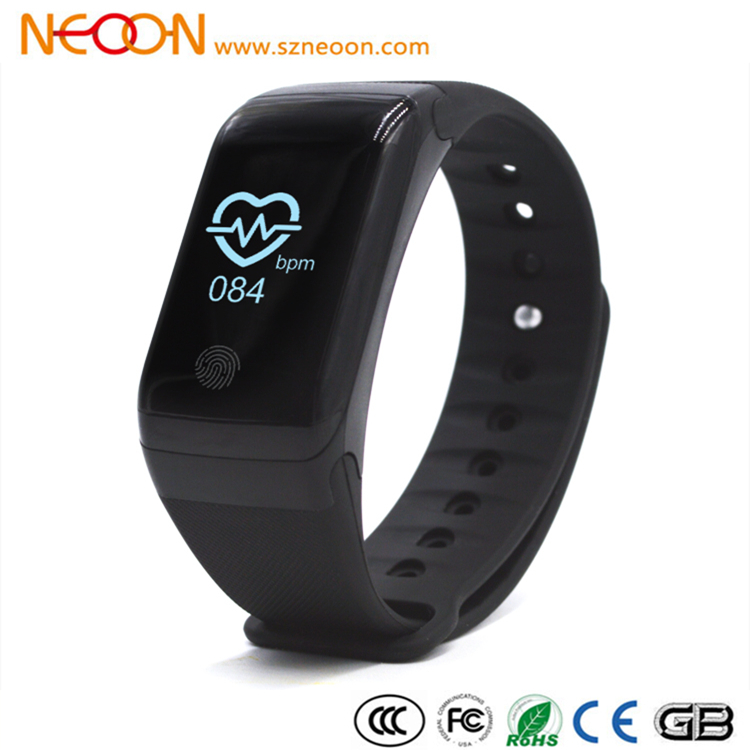 NEOON OEM/ODM F1 smart band with heart rate monitor and blood pressure
