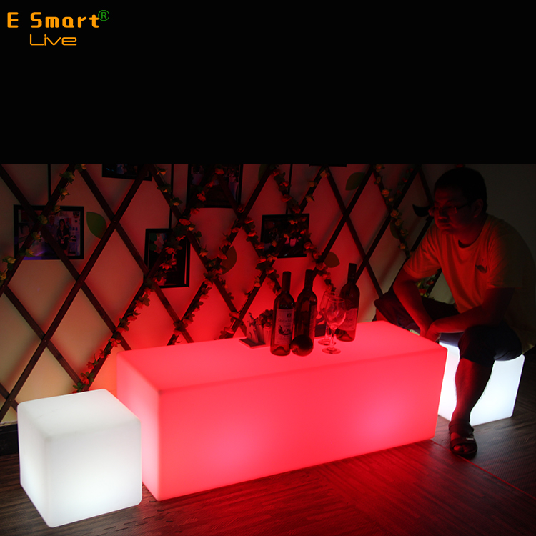 Multicolor LED Cube Mood Light,LED remote control Light,commercial hotel furniture/lighting furniture