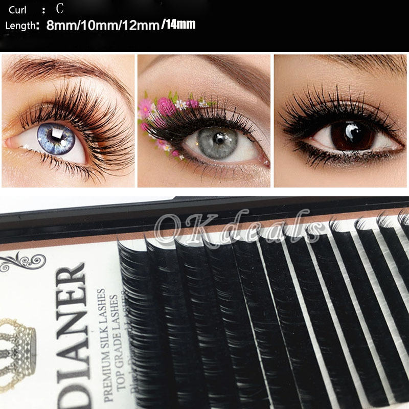 d5e56b0aa01 Wholesale New Mixed Size Mink Individual False Eyelashes Make Up ...