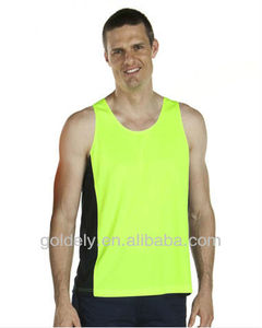 Contrast Singlet/Hi Vis reflective vest/OEM safety reflective clothing Flourecent green vest