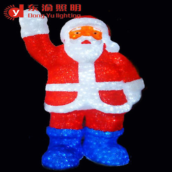 mexico outdoor light up santa claus led motif light for christmas decoration