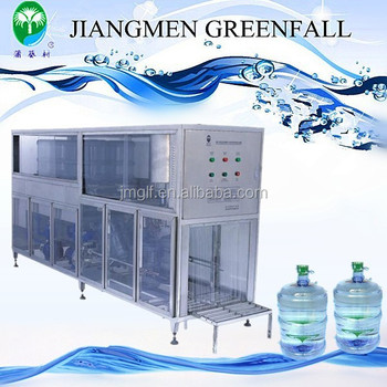 3/5 Gallon Bottled Water 3 in 1 Filling Machine with Inside Washing