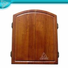 Solid Wood Dart Board Cabinet with Darts & Board