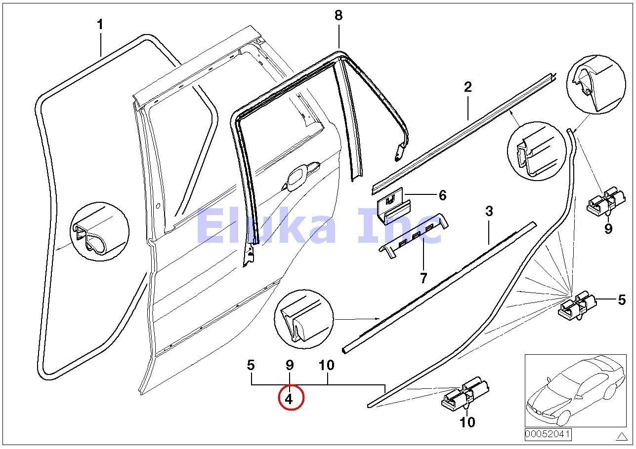 cheap bmw x5 door trim find bmw x5 door trim deals on line at 2000 Buick Century Diagram get quotations bmw genuine rear right lower door trim weatherstrip seal with clips x5 3 0i x5 4 4