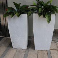 Big Flower Vase Stainless Steel Planter Luxury Flower Pots