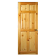 Prettywood Cheap Price Interior 6 Panel Clear Flush Knotty Pine Solid Wood Door
