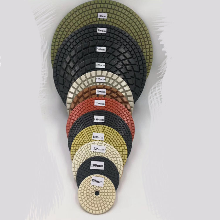 Wet used flexible diamond polishing pads for angle grinder engineered stone granite marble quartz stone grinding Tools
