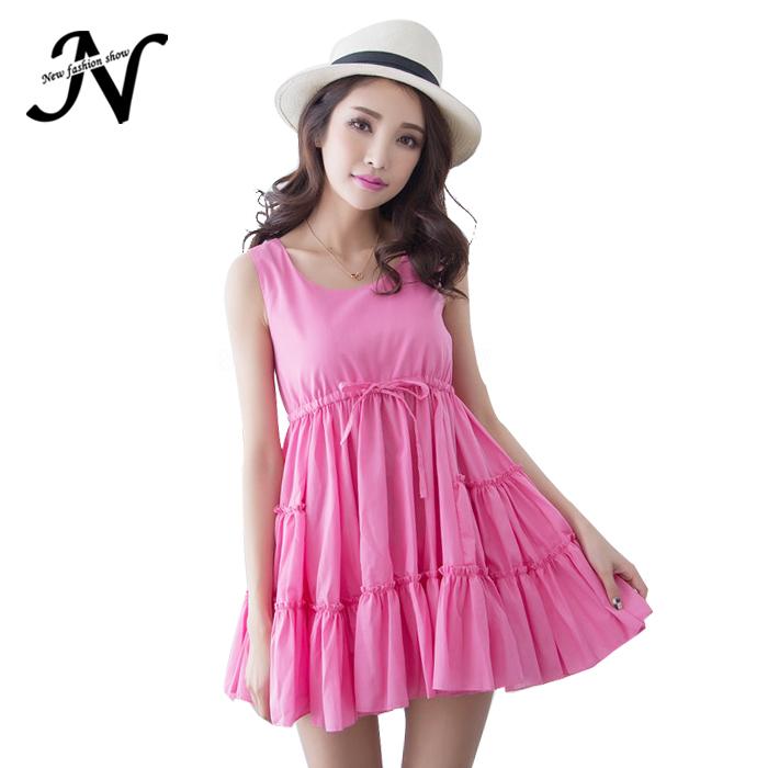 32d37d9e80d New Fashion Casual Summer Style Fluffy Dress Women Holiday Seaside Party  Wear Short Dress 2015 Summer Women Beach Dress 1706