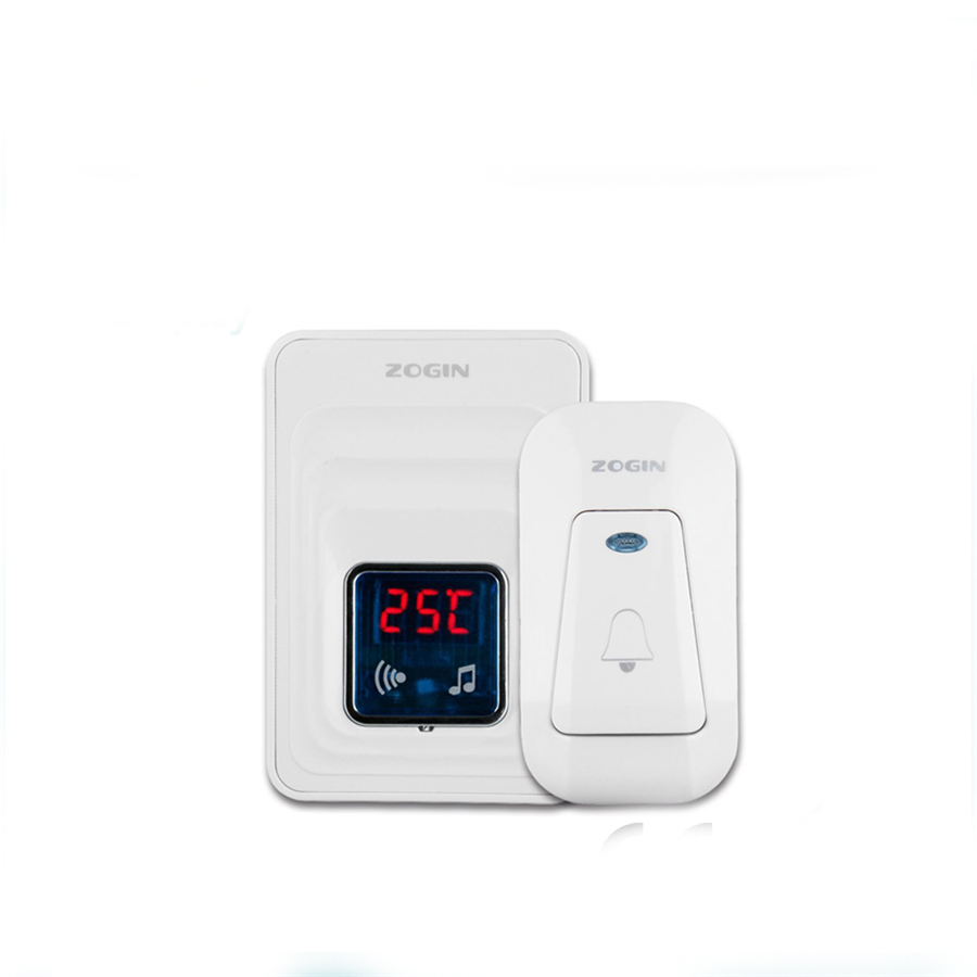 Smart home plug-in doorbells waterproof wireless transmitter and thermometer wireless receiver